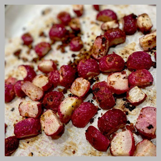 vic s tricks to roasted radishes