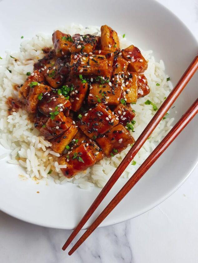 korean fried sticky chilli tofu
