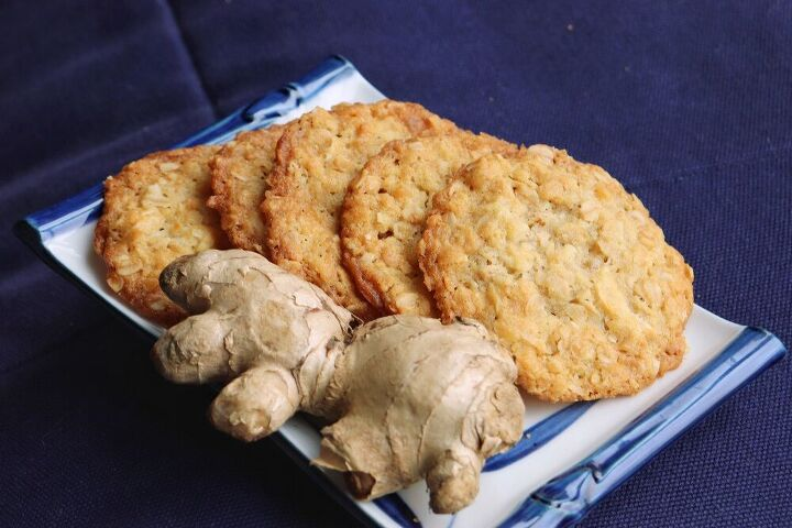 chewy ginger oats cookies