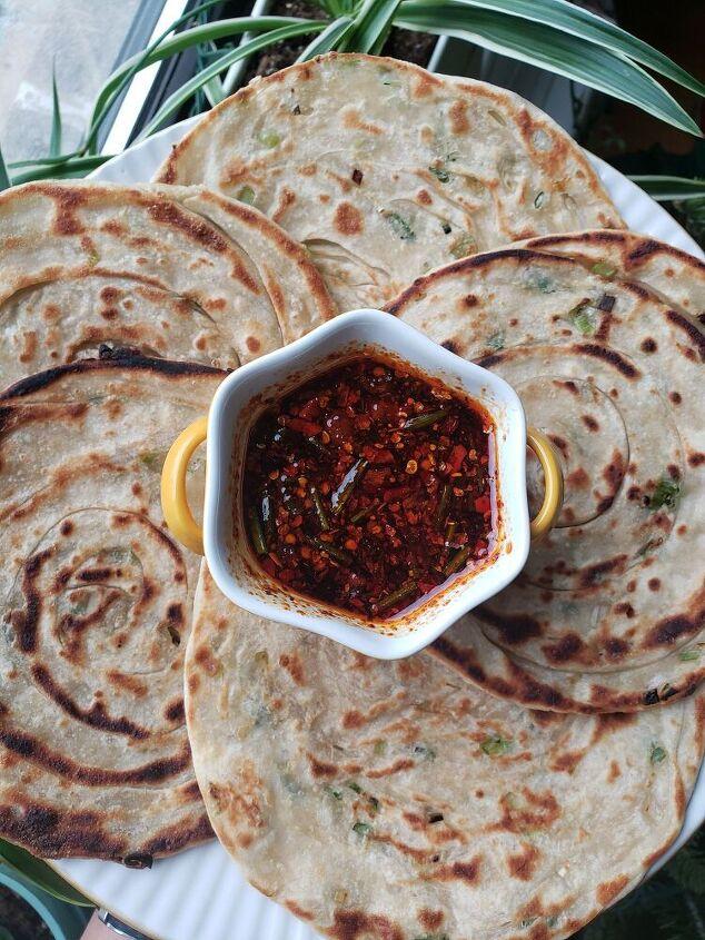 scallion pancake or dumpling dipping sauce