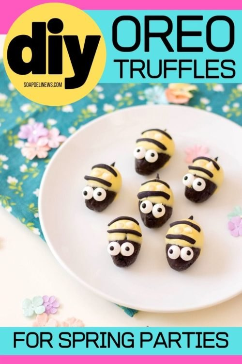 bumblebee oreo cookie truffles with cream cheese for spring entertaini