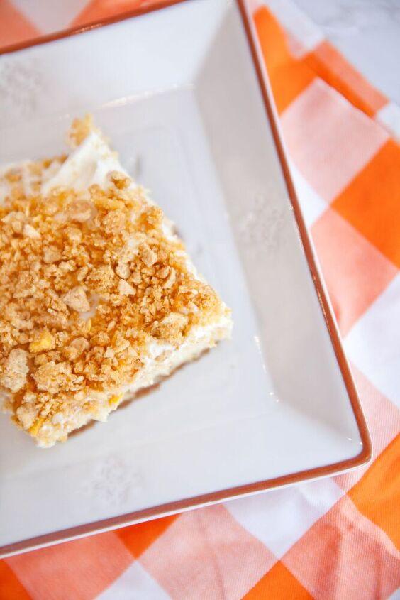 peach crunch cheesecake bars