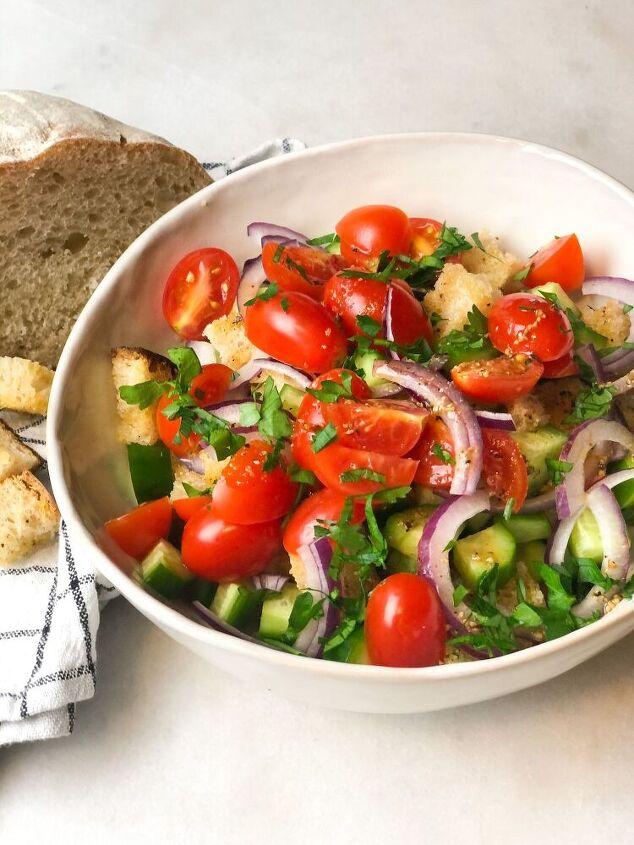 panzanella salad homemade croutons