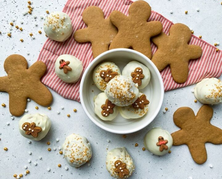 easy white chocolate gingerbread truffles