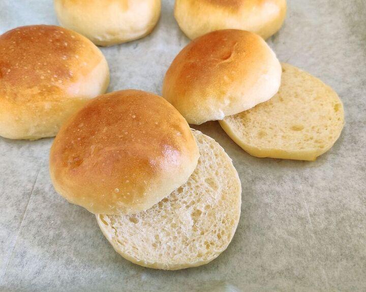 light and fluffy brioche buns