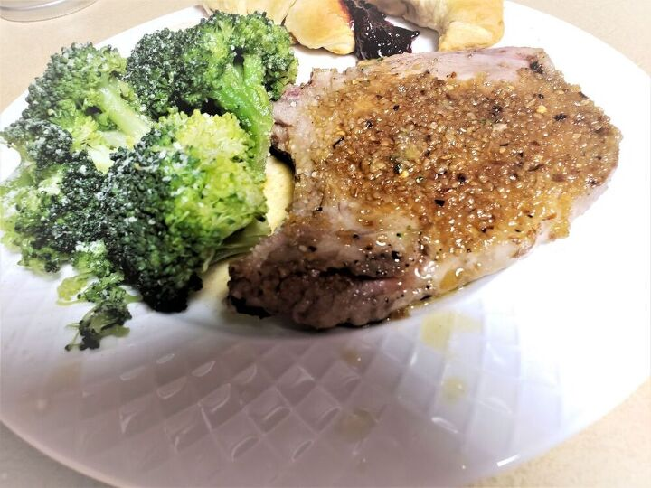 baked pork chops with garlic and brown sugar for two