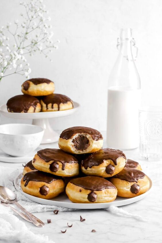 classic dark chocolate filled doughnuts