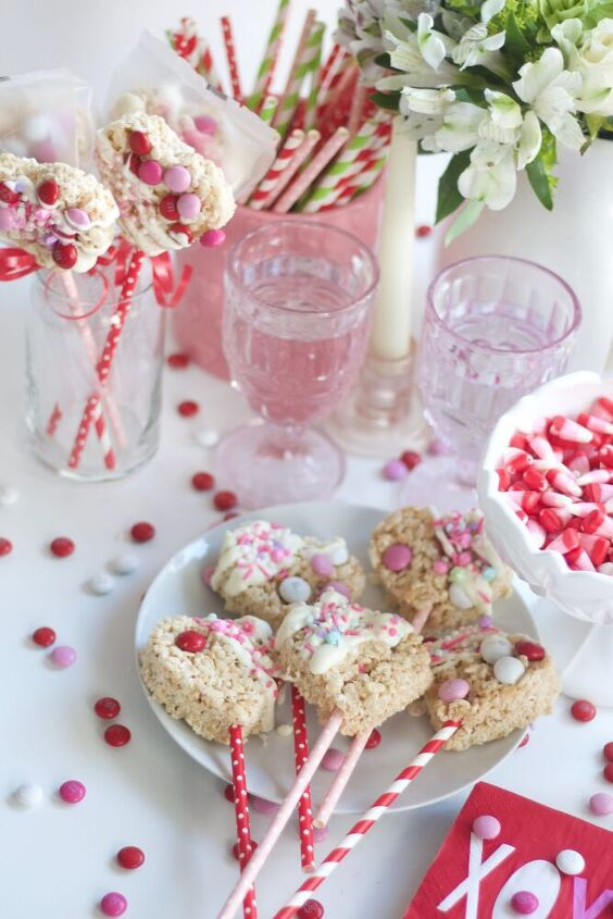 valentines rice krispie treats turn this easy dessert into a special