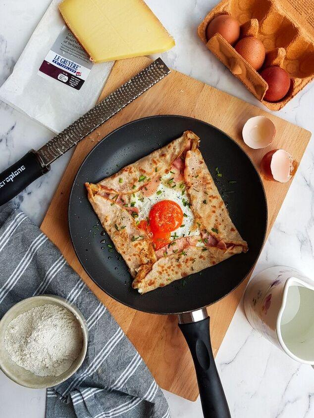 cr pe compl te ham and cheese buckwheat pancake