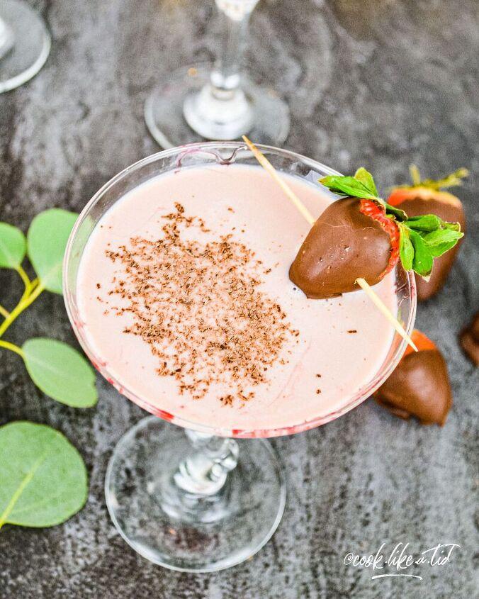 the chocolate covered strawberry martini