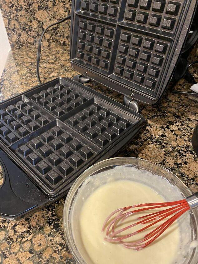Waffle Maker and batter