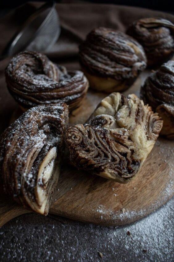 the most delicious nutella sourdough cruffins
