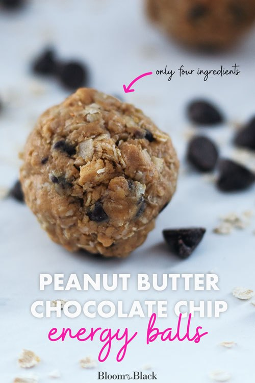 easy 4 ingredient peanut butter chocolate chip energy balls