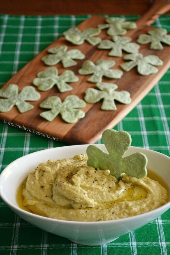 healthy st patrick s day appetizer avocado hummus dip with spinach