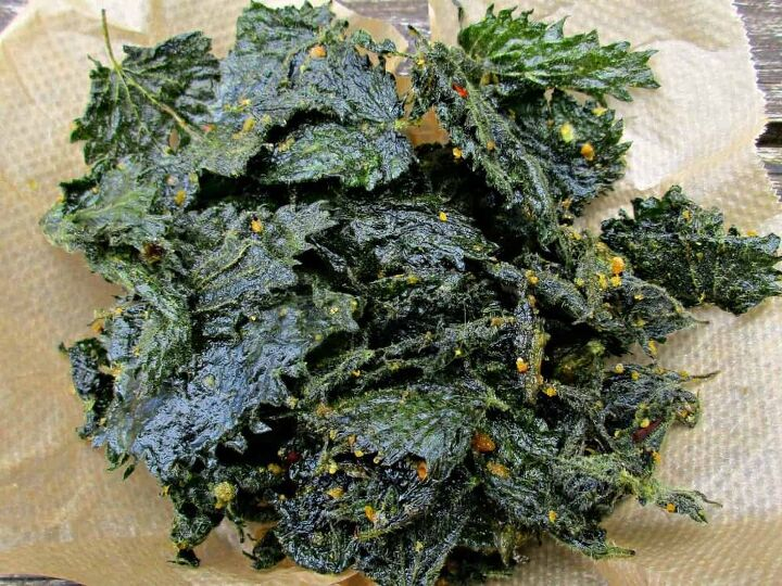 how to make delicious healthy stinging nettle crisps