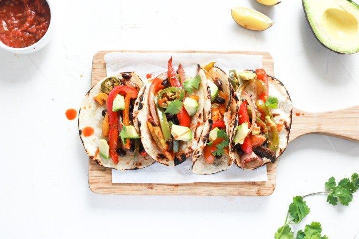 Vegan Black Bean Sheet Pan Tacos