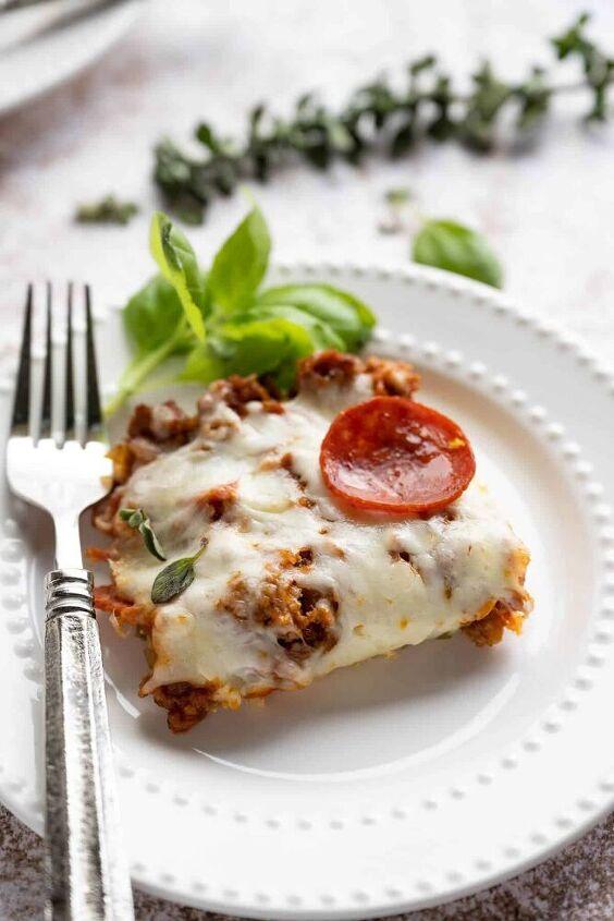 keto low carb pizza casserole