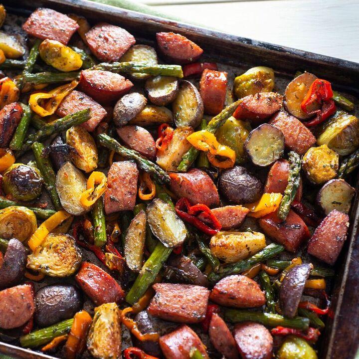 sausage sheet pan roast