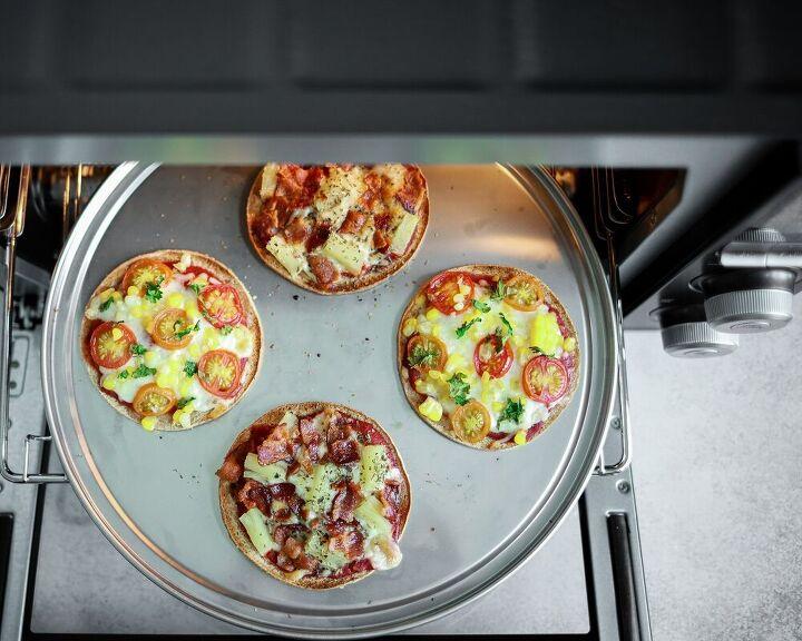 mini countertop oven pizzas two ways