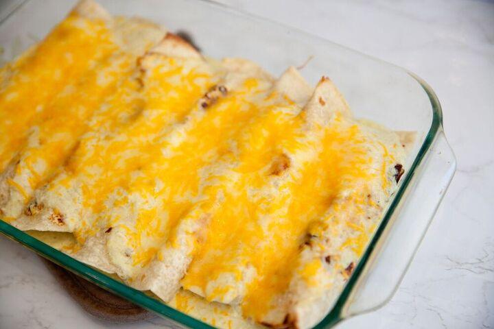 creamy tomatillo chicken enchiladas