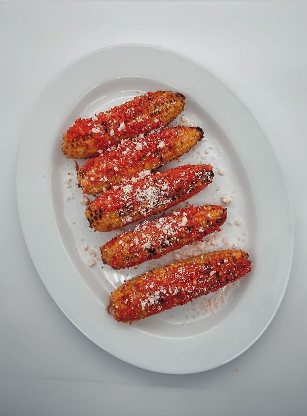 flamin hot cheetos grilled corn elote style
