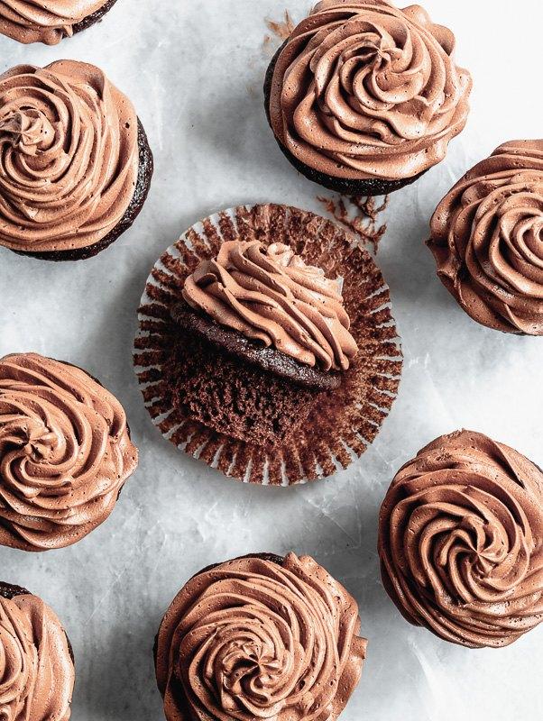 double dark chocolate cupcakes