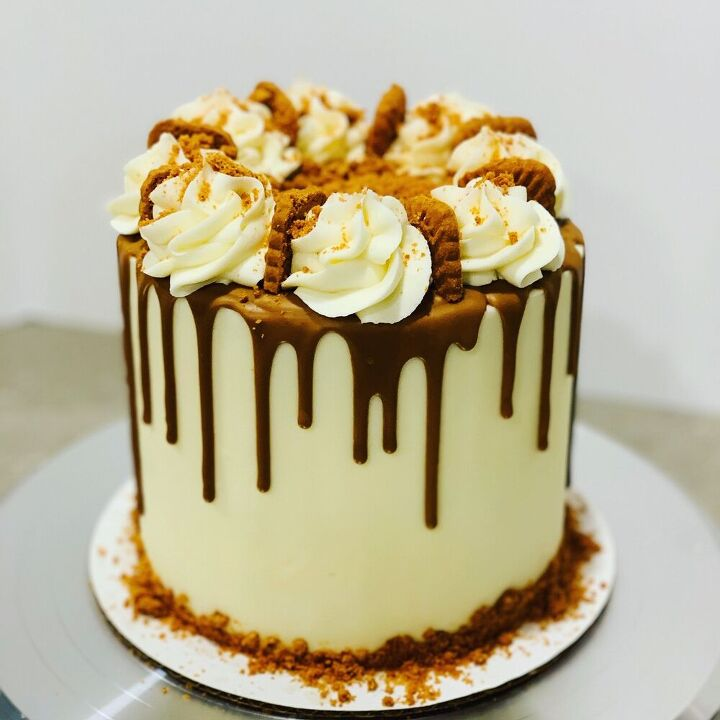 biscoff cookie butter drip cake