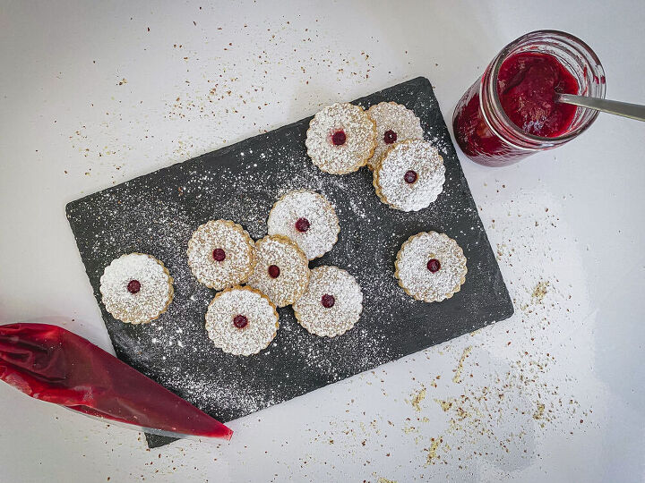 linzer cookies all from scratch