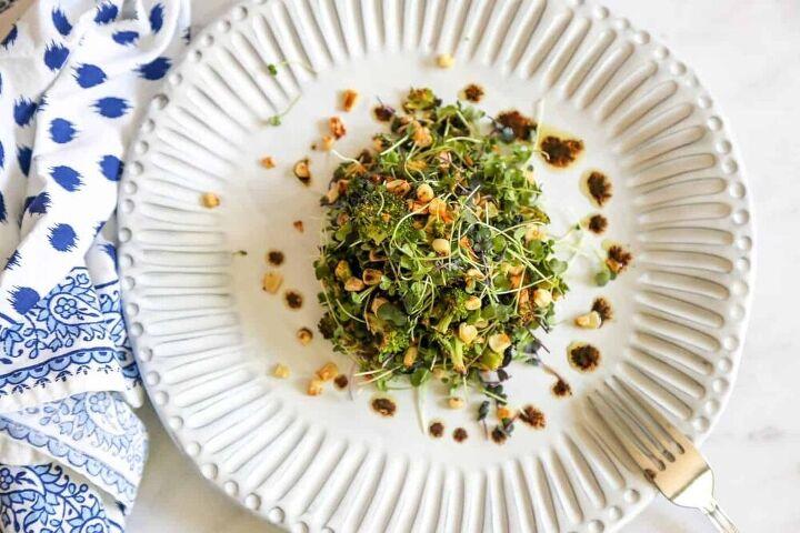 roasted broccoli salad vegan gluten free