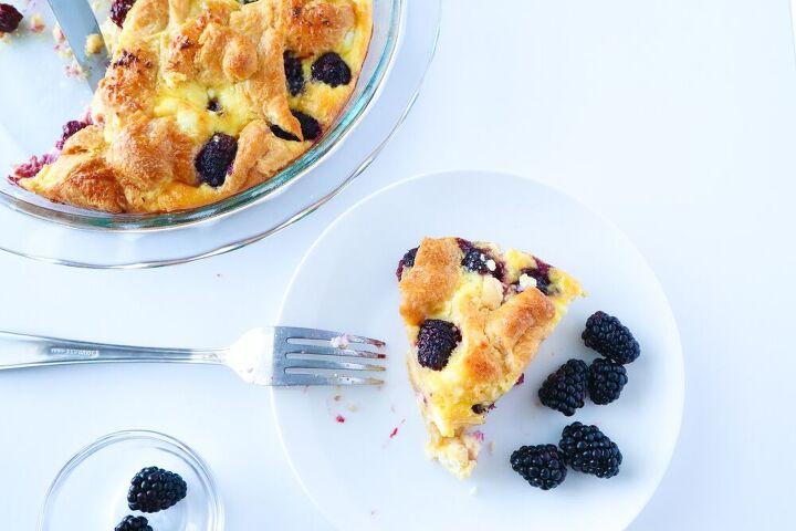blackberry honey goat cheese breakfast casserole