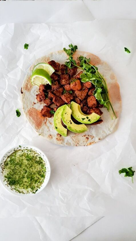 pan grilled chicken tacos with cilantro lime dressing