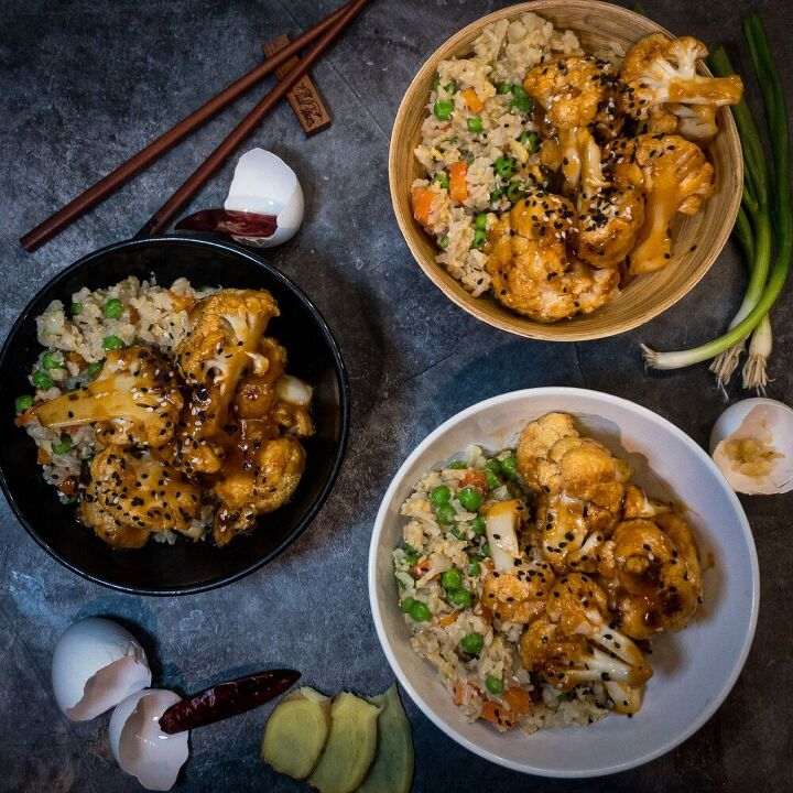sweet and sour cauliflower special fried rice