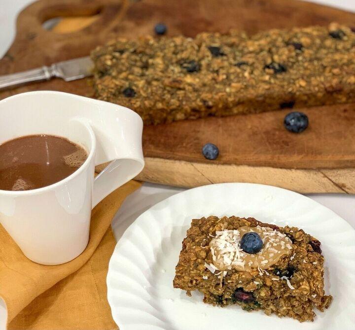 protein baked blueberry raisins nuts gluten free oatmeal