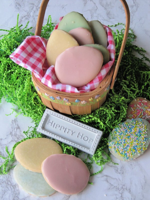 easy decorated easter egg sugar cookies