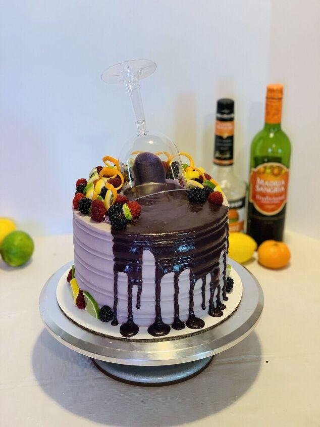 berry sangria cake
