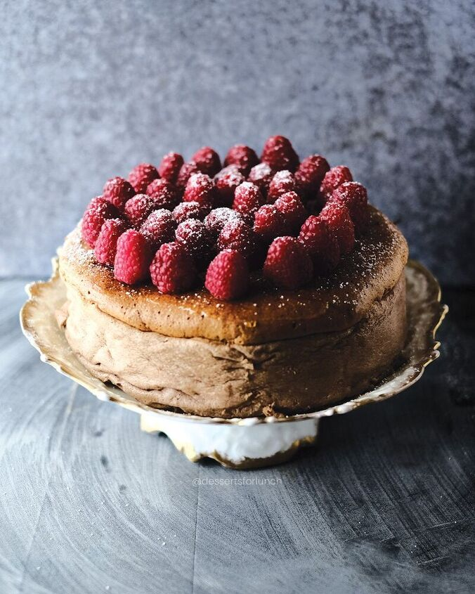malt chocolate japanese style cheesecake low sugar and fat