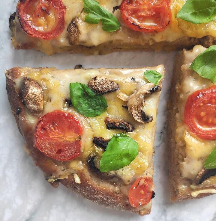 vegan fluffy pizza