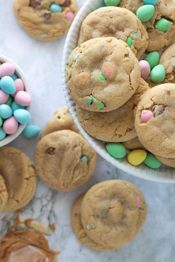 peanut butter cadbury mini egg cookies