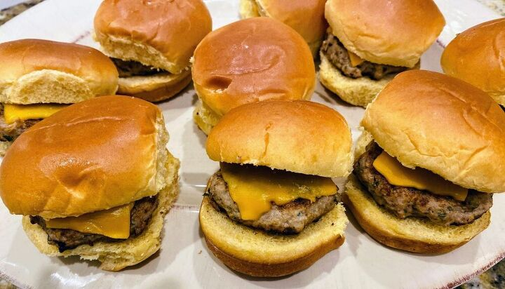 the easiest turkey burger sliders