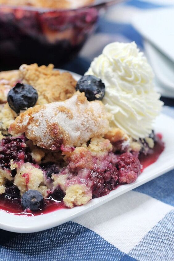 never inappropriate mixed berry cobbler