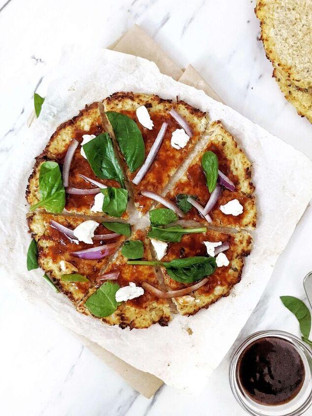 hidden cauliflower chicken crust pizza low carb gluten free