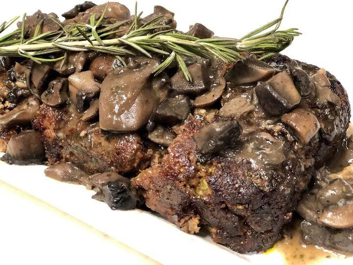 mushroom stuffed meatloaf
