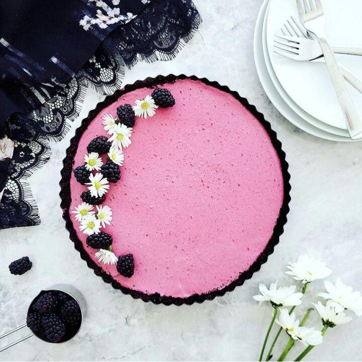 no bake blackberry tart