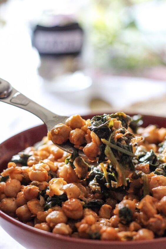 spicy chickpea spinach salad recipe