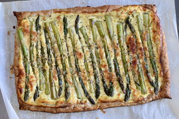 roasted asparagus cheese and fresh herb tart