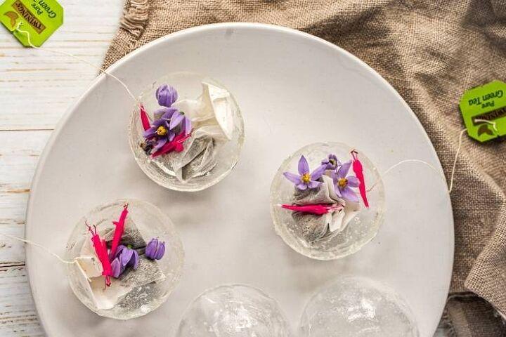 green tea bombs recipe with edible flowers
