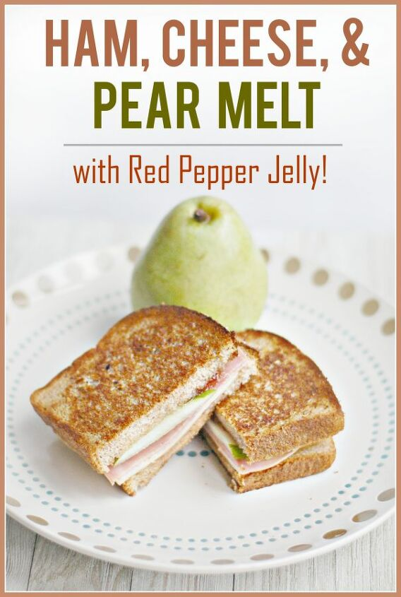 easy frugal recipe ham and cheese melt with pear pepper jelly
