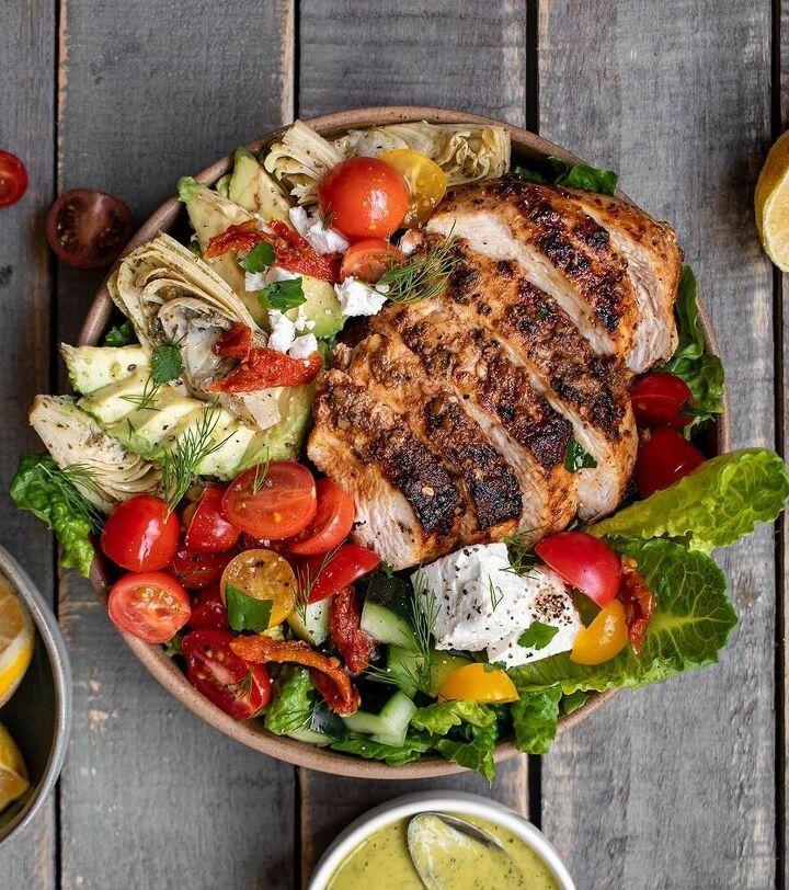 loaded greek chicken salad