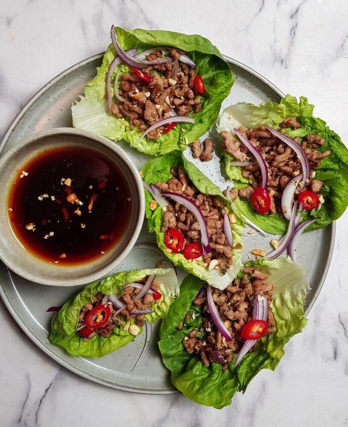 thai larb lettuce cups
