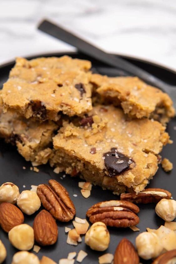 keto tahini chocolate chip nut cookie bars